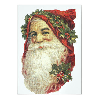 Old Style Santa Claus Card