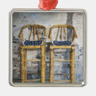 Old styled bamboo chairs, Xitang, Zhejiang, Christmas Ornament