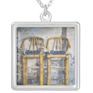 Old styled bamboo chairs, Xitang, Zhejiang, Silver Plated Necklace