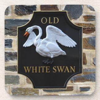 Old Swan Pub Sign Coaster