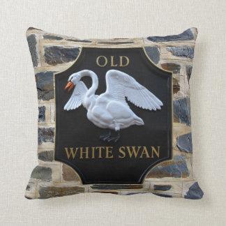 Old Swan Pub Throw Pillow