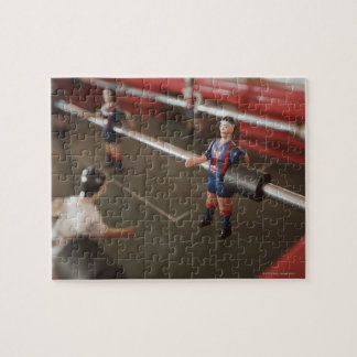 Old table football player jigsaw puzzle