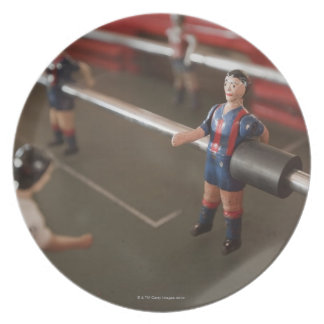 Old table football player plate