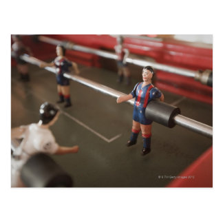 Old table football player post card