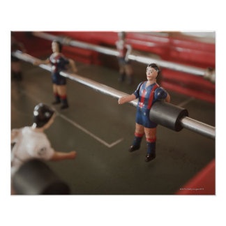 Old table football player poster
