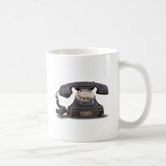 old telephone basic white mug