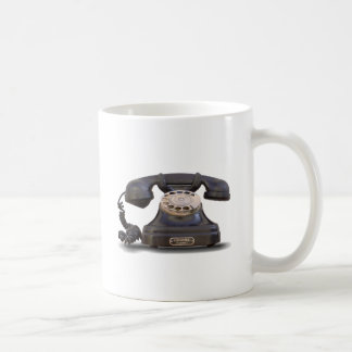 old telephone coffee mug