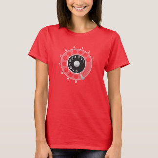 Old telephone rotary dial T-Shirt