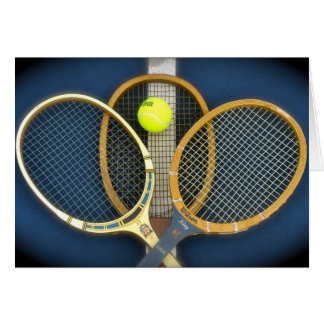 Old Tennis Rackets Cards