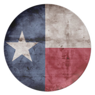 Old Texas Flag Party Plates
