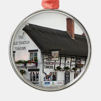Old Thatch Tavern Stratford England Britain Christmas Ornament