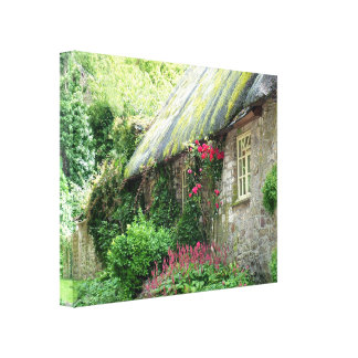 Old Thatched Cottage Canvas Prints