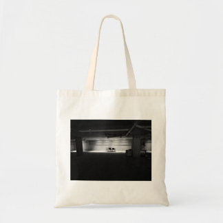 Old Themed, A Black And White Picture Of Few Chair Budget Tote Bag