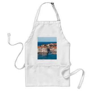 Old Themed, Ancient Village Of Castles With Red Ro Standard Apron