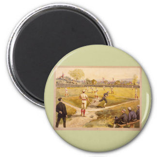 Old Time Base Ball 6 Cm Round Magnet