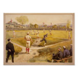 Old Time Base Ball Poster