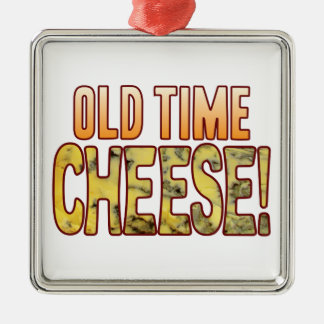 Old Time Blue Cheese Silver-Colored Square Decoration
