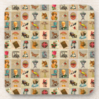 Old Time coasters with cork back - set of 6