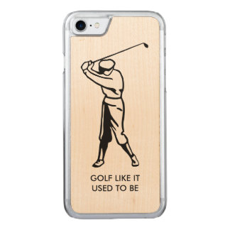 Old Time Golf Theme Carved iPhone 8/7 Case