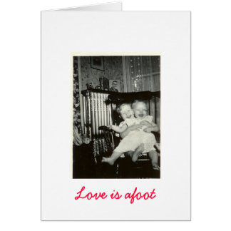 Old Time Photo - Love is afoot Greeting Card