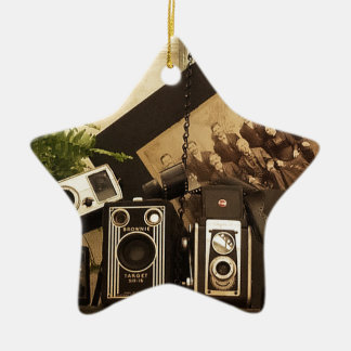 Old Time Photography Ceramic Star Decoration