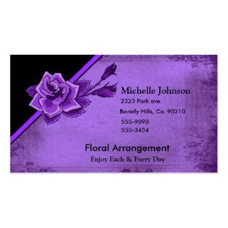 Old TIme Purple Rose Floral Set Pack Of Standard Business Cards