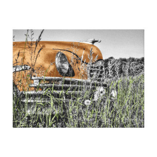 Old Timer 1950's Vintage American Car Canvas Print
