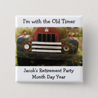 Old Timer Antique Truck Occasion Pin Badge