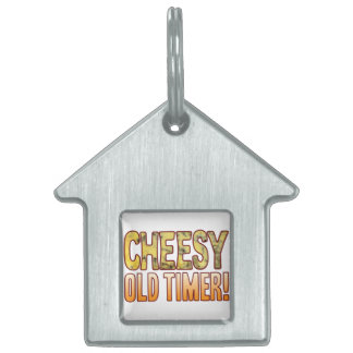Old Timer Blue Cheesy Pet Name Tag