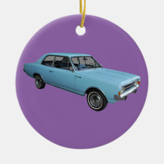Old timer Opel Rekord Round Ceramic Decoration