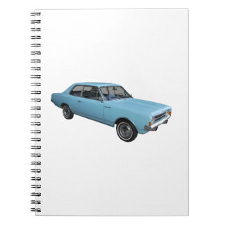 Old timer Opel Rekord Spiral Note Book