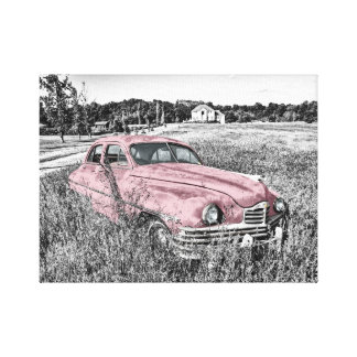 Old Timer Vintage 1950's American Car on Canvas