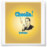 Old-Timey Choolla Alcohol Anagram Humour Photograph