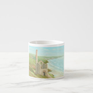 Old Tin Mine, Coast Path, Cornwall Espresso Mug