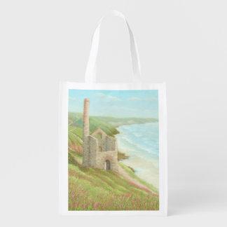 Old Tin Mine, Coast Path, Cornwall Reusable Bag