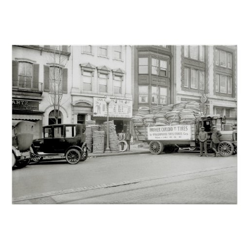 Old Tire Store, 1921 Print