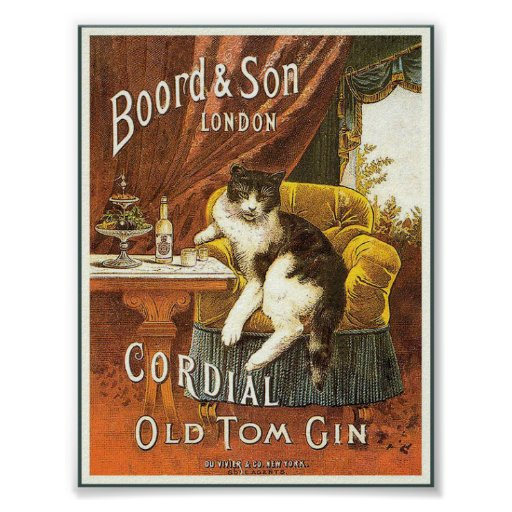Old Tom Gin Vintage Poster