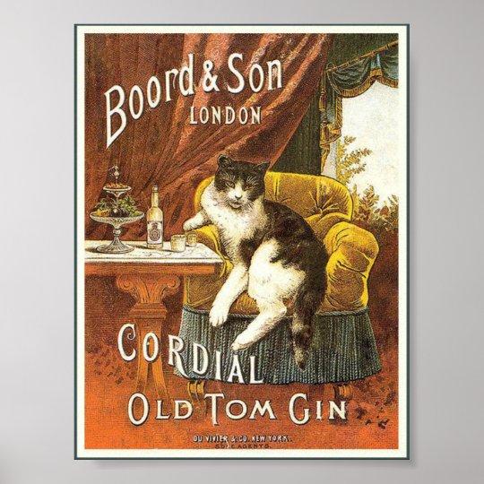Old Tom Gin Vintage Poster