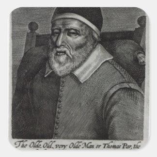 Old Tom Parr, 1635 Square Sticker