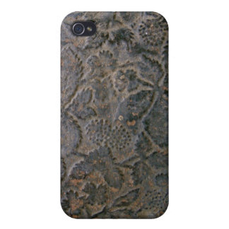 Old tooled Leather i Cover For iPhone 4