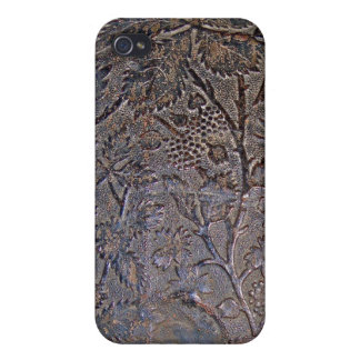 Old Tooled Leather i iPhone 4/4S Covers