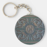 Old Tooled Leather Journal Keychain