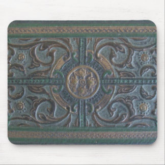 Old Tooled Leather Journal Mouse Mat