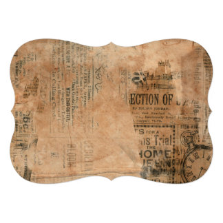 Old Torn Vintage Newspaper One Personalized Announcements