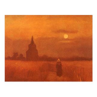 Old Tower in the Fields, van Gogh, Vintage Art Postcards