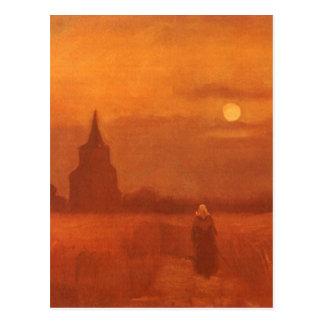 Old Tower in the Fields, van Gogh, Vintage Art Post Card