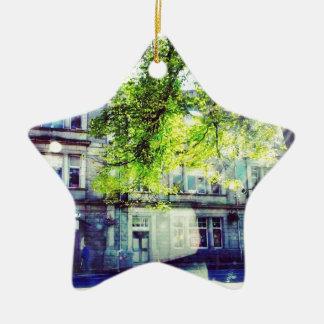 Old Town Ceramic Star Decoration