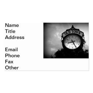 Old Town Clock Pack Of Standard Business Cards