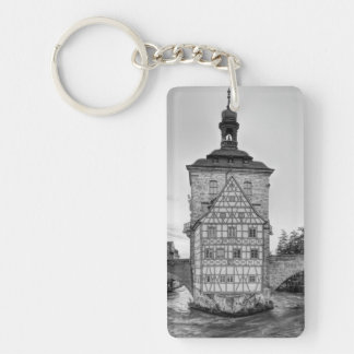 Old Town Hall and Obere Bridge in Bamberg Key Ring