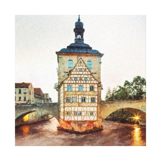 Old Town Hall and the Obere Bridge in Bamberg Canvas Print
